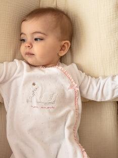Dors bien en velours fantaisie écru et bonnet bébé fille ZOELIA_B / 21E0NFG1GRE000