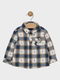 Chemise à carreaux fantaisie bébé garçon  SARUFUS / 19H1BGI1CHMC235