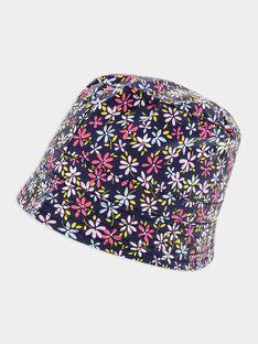 Chapeau de pluie imprimé fleuri marine fille SIKILETTE / 19H4PF41CHA107