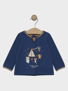 Tee-shirt manches longues bébé garçon bleu   SAROSS / 19H1BGI1TMLC235