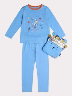 Pyjama bleu sur le thème de l'espace garçon. TIJAMAGE 3 / 20E5PG51PYT216