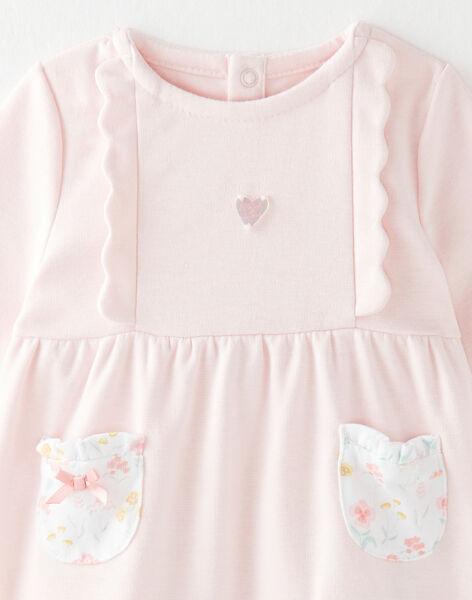 Ensemble robe, legging bandeau et hochet bébé fille  VIOLETTA / 20H0CF12ENS301