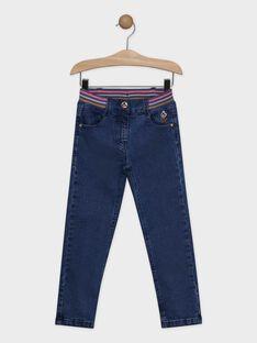 Jeans camel fille SOVAMETTE / 19H2PF61JEAK005