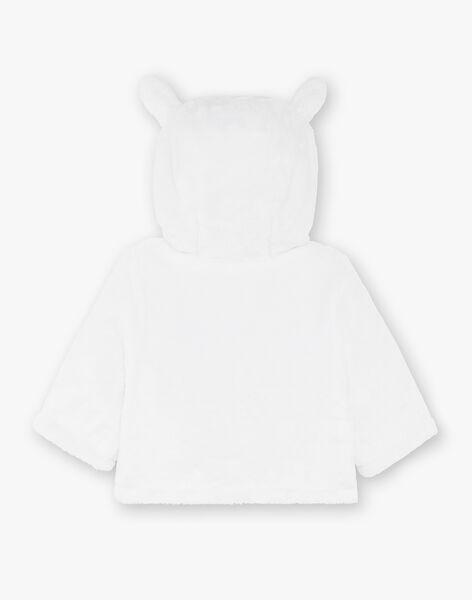 Veste à capuche en fausse fourrure blanche bébé mixte ZOAIME / 21E0CMG1VES000