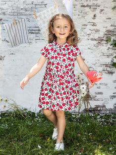 Robe écrue imprimé fleuri enfant fille BABILETTE / 21H2PF11ROB001