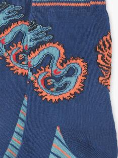 Chaussettes bleues contrastées tigre et dragon  ZAGNAGE / 21E4PGI1SOQ705