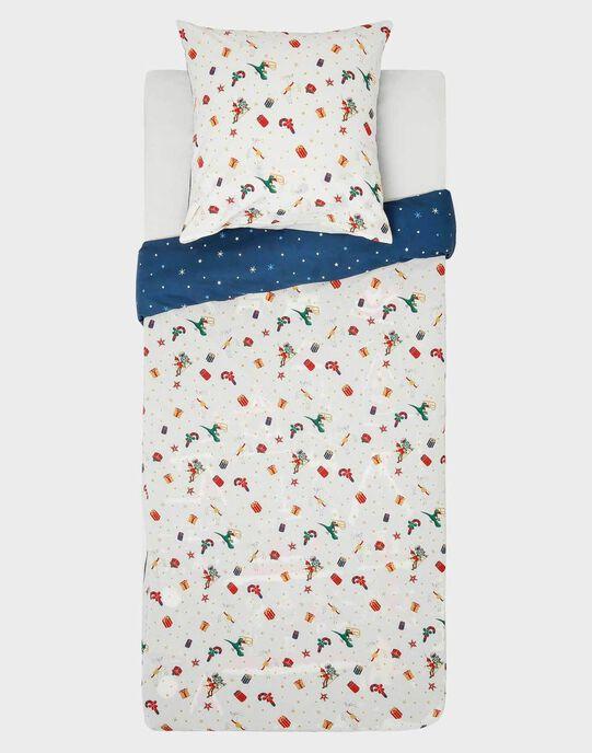 Parure de lit de noël marine avec taie carrée  SOCOUETTE / 19HZENS2PLCC205