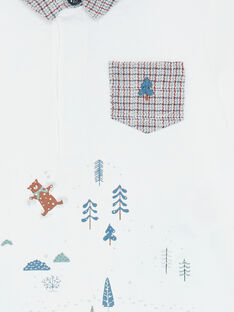 Polo blanc avec col contrasté  VAPIERRE / 20H1BGW1POL001