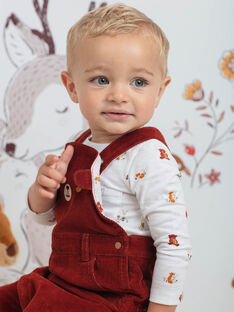Body écru imprimé animaux bébé garçon BALUCAS / 21H1BGJ1BOD001