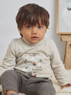 Sous-pull beige chiné motif fantaisie ski bébé garçon BASEDOU / 21H1BGO1SPLA011