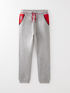 Bas de jogging gris et rouge VADILAGE / 20H3PG73JGB943
