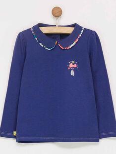 Tee shirt manches longues bleu  PACAINETTE / 18H2PF63TMLC214