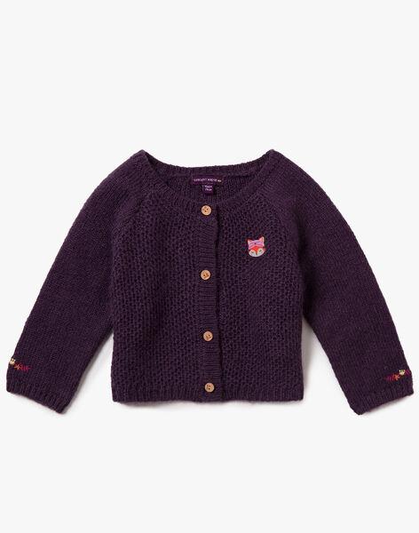 Cardigan violet en tricot VAMARTINE / 20H1BFU1CAR711
