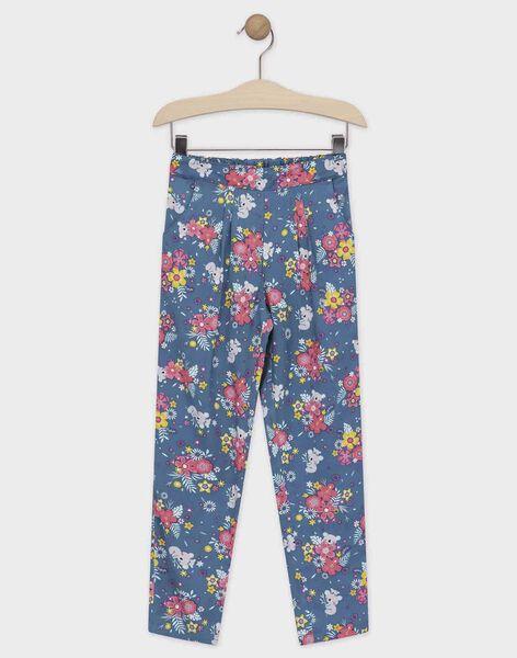 Pantalon imprimé floral bleu fille TAEFIETTE 3 / 20E2PFM1PAN210