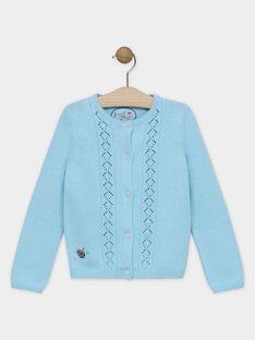 Cardigan bleu tricot fantaisie fille SYVAETTE / 19H2PFE2CARC215
