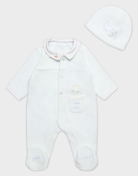 Dors bien en velours bébé garçon TYTOUIN B / 20E0NGF5GRE218