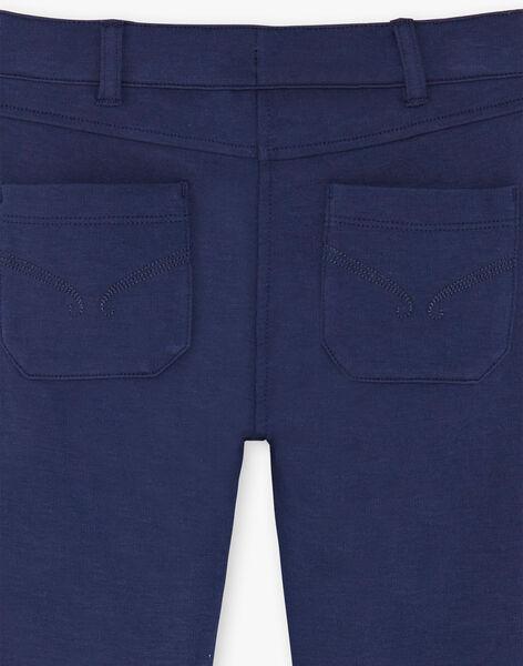 Pantalon bleu marine maille milano enfant fille ZLUPETTE1 / 21E2PFK1PANC214