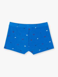 Short de bain bleu et rouge imprimé dinosaures enfant garçon ZYSOLAGE / 21E4PGX1MAIC240