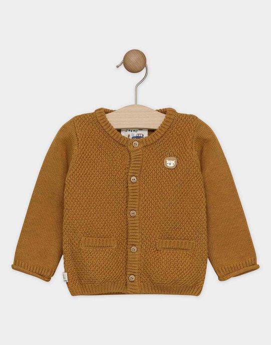 Gilet bébé garçon couleur camel  SAKENTIN / 19H1BG61GIL804
