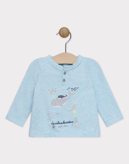 Tee-shirt manches longues bébé garçon  SAOLAF / 19H1BGE1TML203