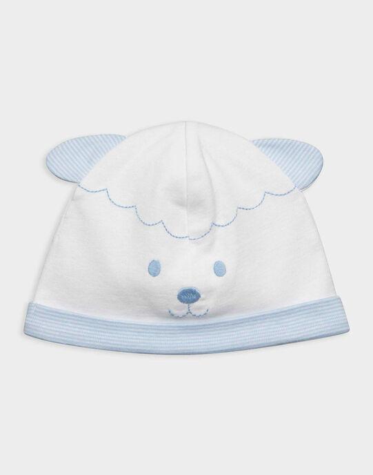 Bonnet de naissance blanc RYARNOLD / 19E0AG12BNA001