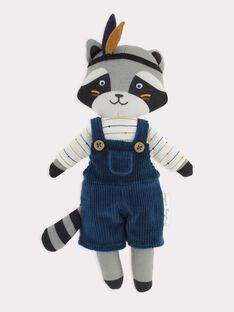 Peluche raton laveur grise bébé garçon SARACOON / 19H4BGI1JOUJ907