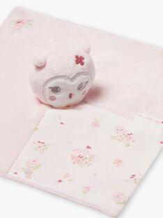 Peluche ourson rose pâle naissance fille BOLILOU / 21H0AF41JOU301