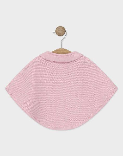 Cape en tricot rose bébé fille TYGABI / 20E0CFF2PON305