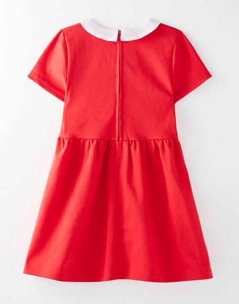 Robe rouge col Claudine VEROBETTE 4 / 20H2PF74ROB050