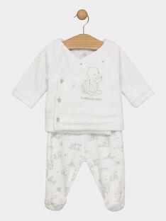 Ensemble nuit cardigan et pantalon à pied en velours bébé mixte SYBAO / 19H0NMM1ENS000