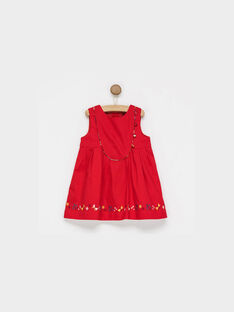 Robe chasuble rouge PAALICE / 18H1BF21CHS050