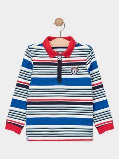Polo à rayures rouge et bleu garçon  TAEJIAGE / 20E3PGC2POL701