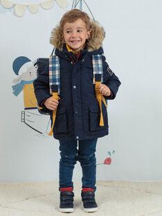 Cartable bleu marine à motifs Londres et imprimé à carreaux enfant garçon BAZECAGE / 21H4PG52BES070