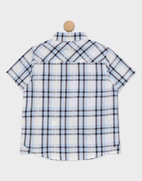 Chemise blanche à carreaux RIACLIAGE / 19E3PGE1CHM001