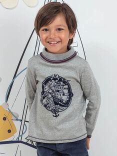 Sous-pull gris chiné motif pirates enfant garçon BIMATAGE / 21H3PGL1SPL943