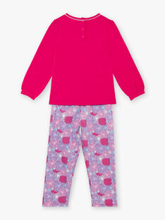 Pyjama fushia et prune en jersey  ZEMARETTE / 21E5PF11PYJ304