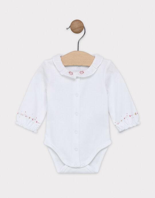 Body blanc bébé fille SYAKIKO / 19H0CF11BOD000