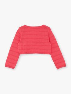 Gilet manches longues rose bébé fille TAVIVIANE / 20E1BFX1CARF507