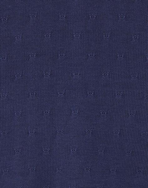 Cardigan bleu pin's papillon ZOCHINETTE / 21E2PFB1CAR216