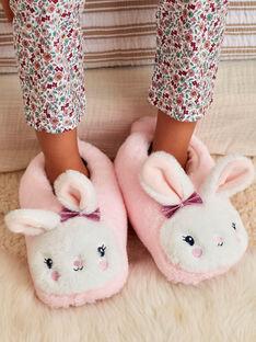 Pantoufles 3D roses lapin enfant fille BELICETTE / 21F10PF22PTD415