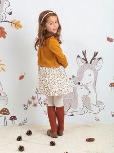 Collant bicolore motif biche enfant fille BUCHUETTE / 21H4PFJ1COL001
