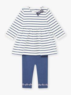 Ensemble robe marinière et legging bébé fille BAKAMILLE / 21H1BFL1ENS001