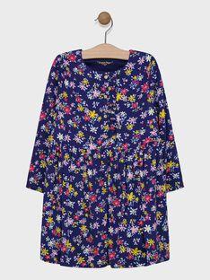 Robe imprimée à fleurs fille SIBANETTE / 19H2PF41ROB070