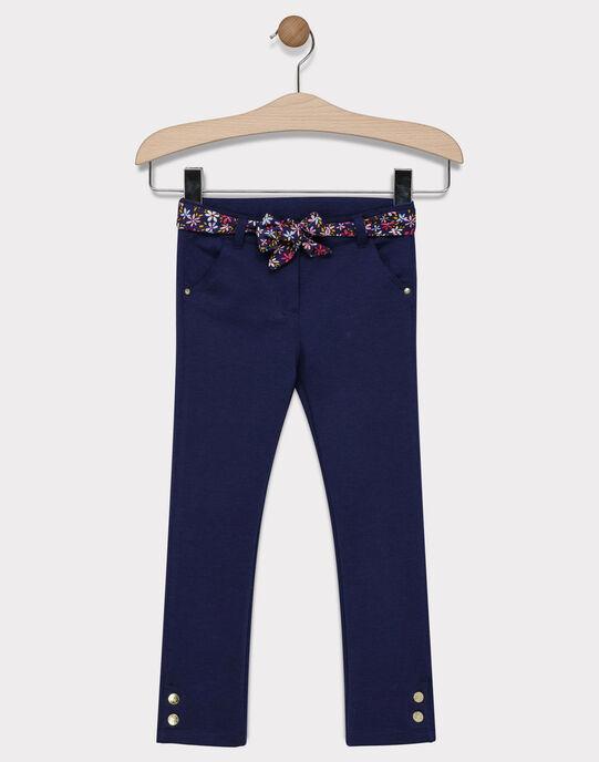 Pantalon maille marine fille SIFLOETTE / 19H2PF41PAN070