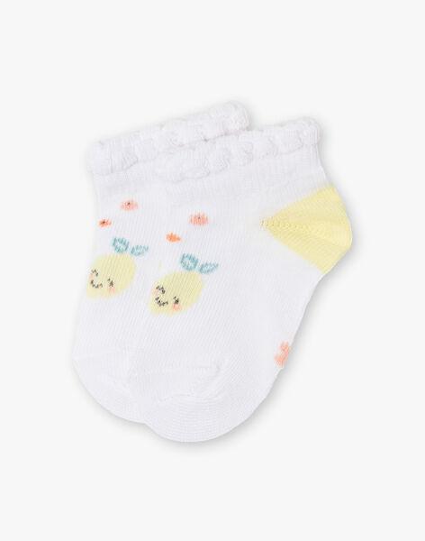 Chaussettes écrues et jaunes bébé fille ZANEIS / 21E4BFO1SOB000