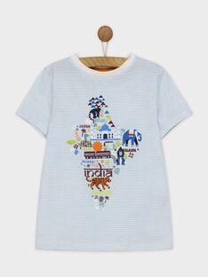 Tee shirt manches courtes bleu ROMITAGE / 19E3PGM1TMC001