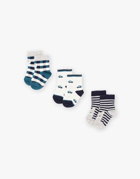 Lot de 3 paires de chaussettes assorties bébé garçon BROBOB / 21H4BGB4LC3070