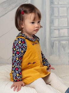 Robe jaune safran bébé fille BAESTELLE / 21H1BF51CHS109