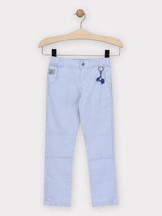Pantalon bleu clair avec porte clé scooter garçon  TIBIAGE / 20E3PGO1PANP265