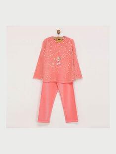 Pyjama rose REJINETTE / 19E5PF71PYJ404